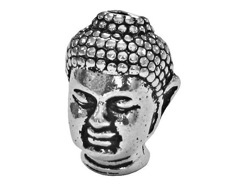 TierraCast Buddha<br> 1/2 inch Pewter Bead<br> Silver Plated