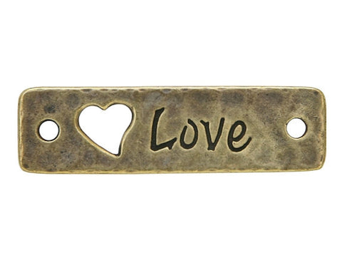 TierraCast Love<br> Large Pewter Link<br> Brass Plated