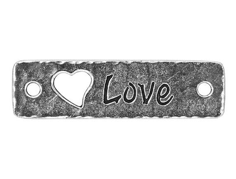 TierraCast Love Large Pewter Link Silver Plated