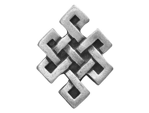 TreasureCast Squared Celtic Knot 7/8 inch Pewter Button Antique Silver Color