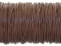 Greek Leather Cord  1.5 mm Chocolate Brown By the Yard