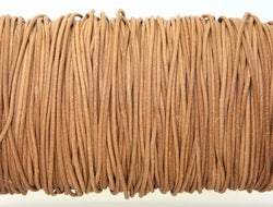 Greek Leather Cord  1.5 mm Natural By the Yard