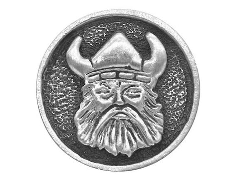 TreasureCast Viking Norse 15/16 inch Pewter Button Antique Silver Color