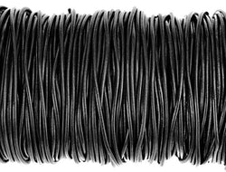 Greek Leather Cord  1.9 mm Black By the Yard