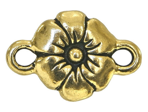 TierraCast Flower 3/4 inch Pewter Link Gold Plated