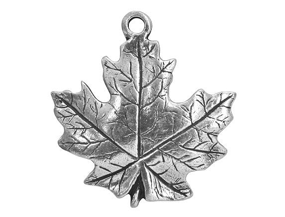Danforth Maple Leaf 15/16 inch Pewter Charm