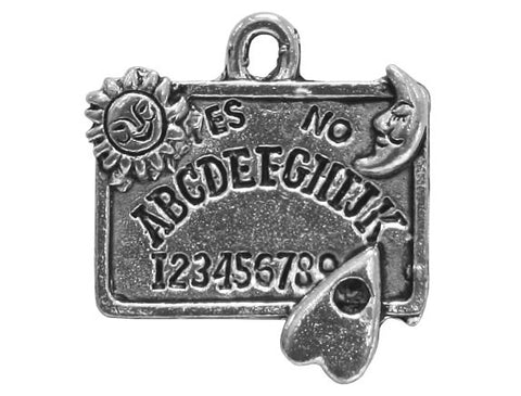 Ouija Board 13/16 inch Pewter Charm Antique Silver Color