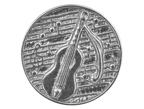 Dill Guitar 7/8 inch Metal Button Silver Color