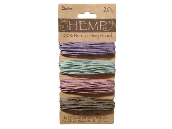 Hemp Cord Assorted Vintage Color Set ( 20 lb 120 feet )