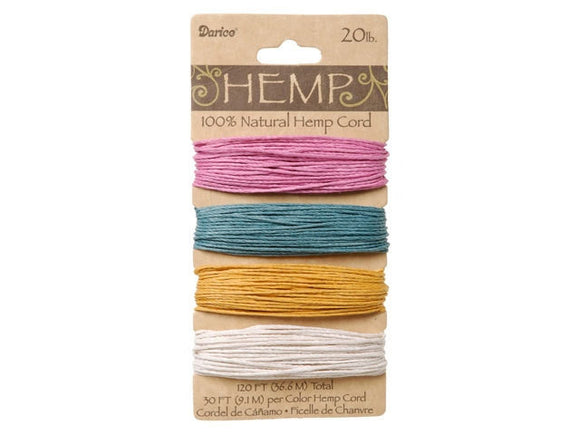 Hemp Cord Assorted Spring Color Set ( 20 lb 120 feet )