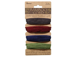 Bamboo Cord Assorted Jewel Tones Color Set ( 20 lb 120 feet )