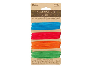Bamboo Cord Assorted Neon Color Set ( 20 lb 120 feet )