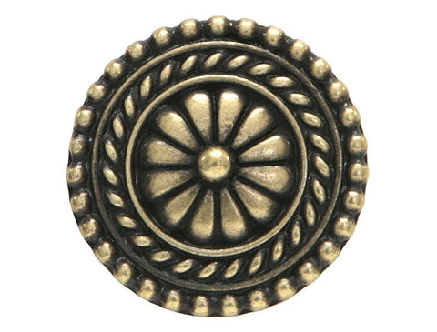 TierraCast Bali 11/16 inch Pewter Button Brass Plated