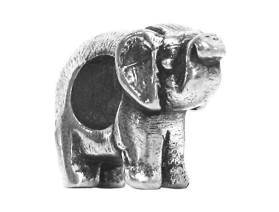Danforth Elephant<br> 9/16 inch Pewter Bead<br> Antique Silver Color