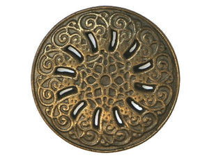 Byzantine 7/8 inch Metal Button Antique Brass Color