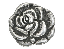 Nambe Rose<br>  11/16 inch Metal Button<br>  Antique Silver Color