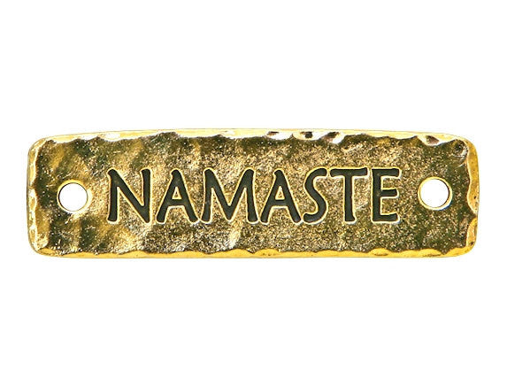 TierraCast Namaste Large Pewter Link Gold Plated