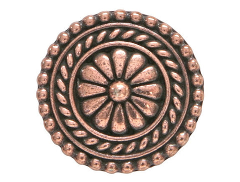 TierraCast Bali 11/16 inch Pewter Button Copper Plated