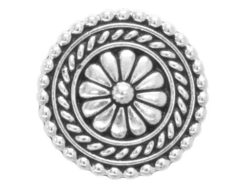 TierraCast Bali 11/16 inch Pewter Button Silver Plated