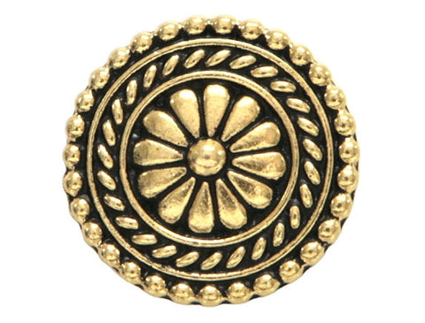 TierraCast Bali 11/16 inch Pewter Button Gold Plated