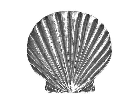 Danforth Scallop Shell 3/4 inch Pewter Button Antique Silver Color