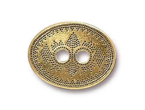 TierraCast Tribal 3/4 inch Pewter Button Gold Plated