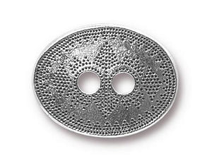 TierraCast Tribal 3/4 inch Pewter Button Silver Plated