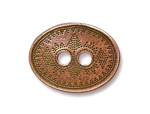 TierraCast Tribal 3/4 inch Pewter Button Copper Plated