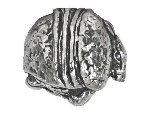 Green Girl Armadillo 9/16 inch Pewter Bead Antique Silver Color