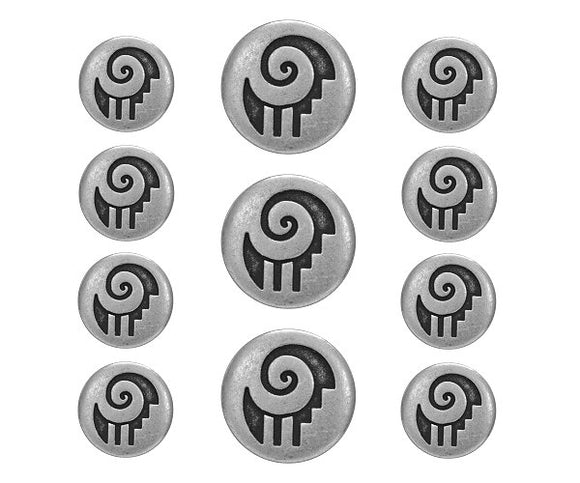 Tribal Ram 11 pc Blazer Button Set Antique Silver Color
