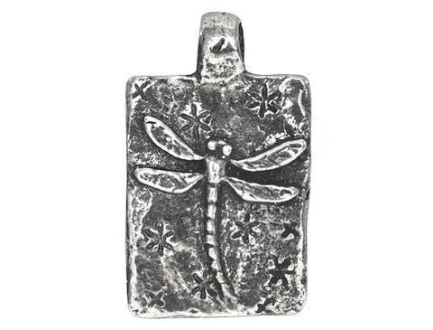 Green Girl Fly 13/16 inch Pewter Charm Antique Silver Color