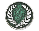 TreasureCast Laurel Wreath 3/4 inch Pewter Button Antique Silver Color