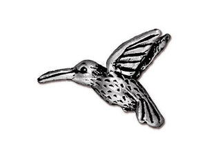 TierraCast Hummingbird 3/4 inch Silver Plated Pewter Bead
