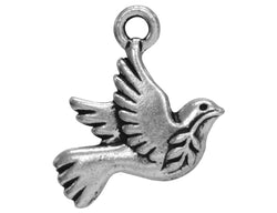 TierraCast Peace Dove<br>  3/4 inch Pewter Charm<br> Silver Plated