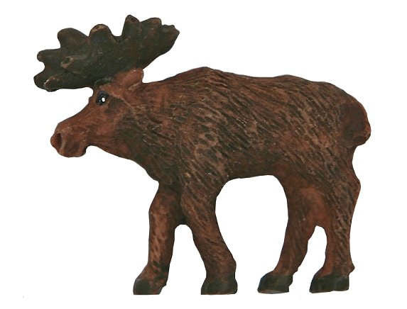 Moose Large Novelty Sewing Button Brown Color