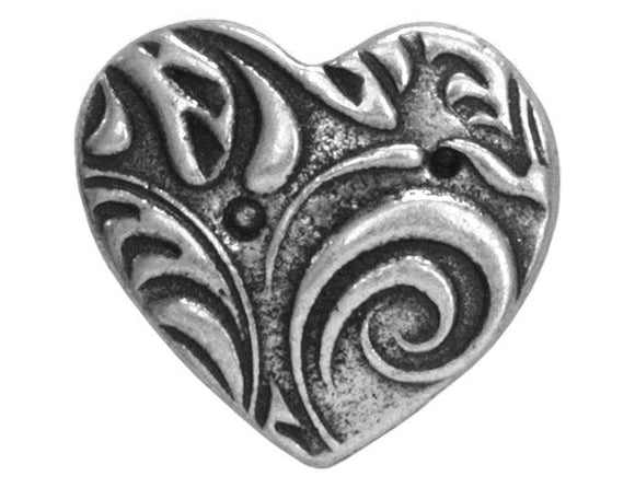 TierraCast Amor 5/8 inch Pewter Button Antique Silver Color