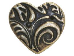 TierraCast Amor<br>  5/8 inch Pewter Button<br> Brass Plated