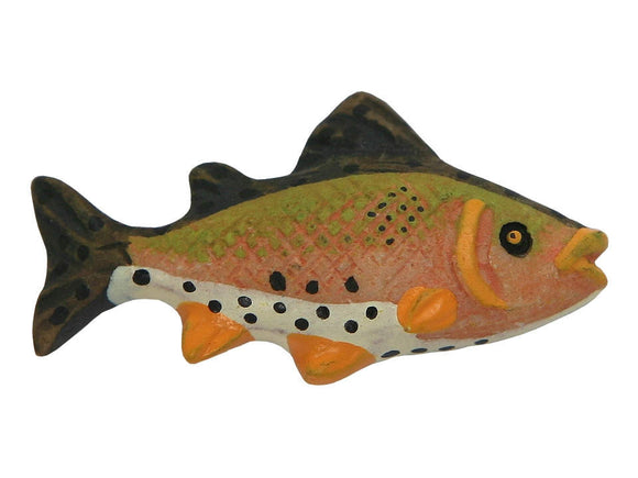 Rainbow Trout Fish Large Novelty Sewing Button Multi Color