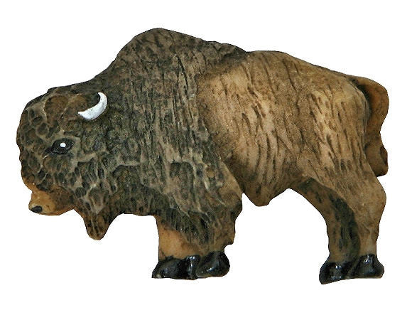Buffalo Large Novelty Sewing Button Brown Color