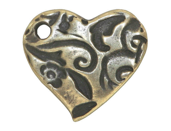 TierraCast Amor 5/8 inch Pewter Charm Brass Plated