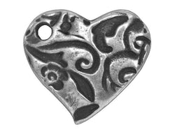 TierraCast Amor 5/8 inch Pewter Charm Antique Silver Color
