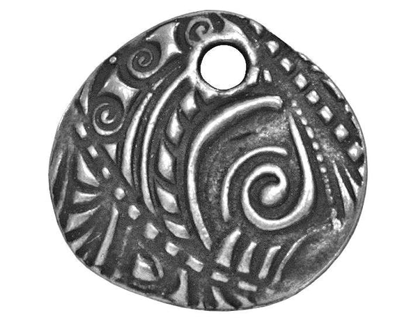 TierraCast Jardin 5/8 inch Pewter Charm Antique Silver Color