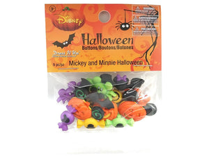 Halloween Disney Mickey and Minnie Novelty Buttons Jesse James Dress it Up Theme Pack