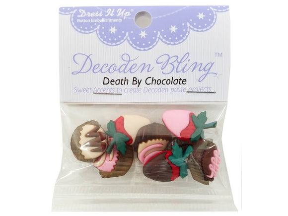 Death by Chocolate<br> Novelty Buttons<br> Dress It Up Theme Pack