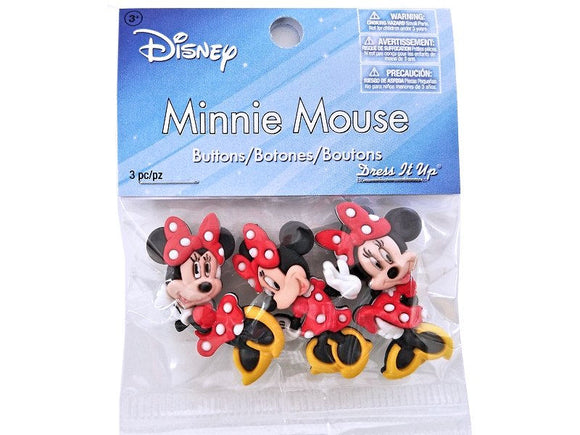 Disney Minnie Mouse<br> Novelty Buttons<br> Dress It Up Theme Pack