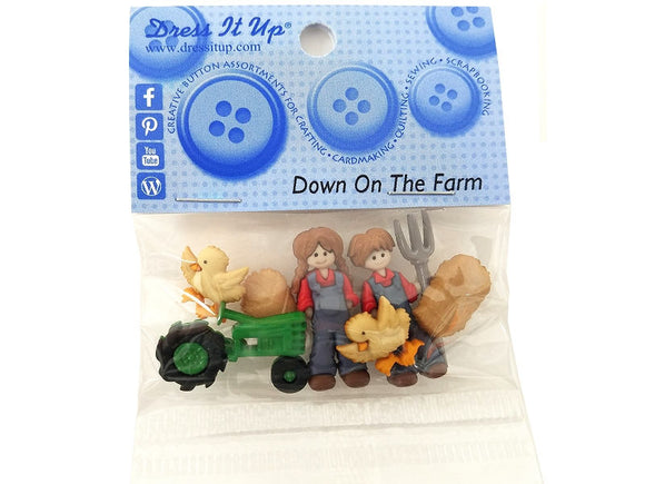 Down on the Farm<br> Novelty Buttons<br> Dress It Up Theme Pack