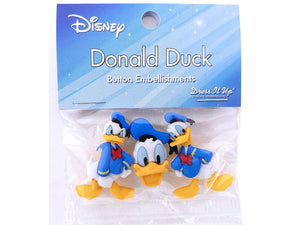 Disney Donald Duck<br> Novelty Buttons<br> Dress It Up Theme Pack