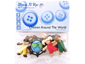 Children Around the World<br> Novelty Buttons<br> Dress It Up Theme Pack