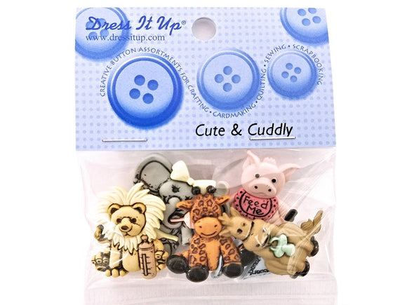 Cute & Cuddly<br> Novelty Buttons<br> Dress It Up Theme Pack