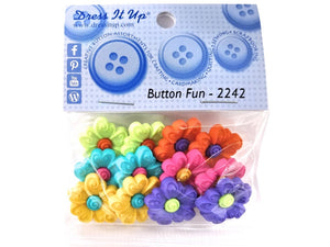 Button Fun Daisies<br> Novelty Buttons<br> Dress It Up Theme Pack